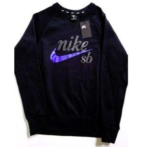 178207c0a84218 Nike SB Logo Black Hyper Royal Crew LS Sweatshirt